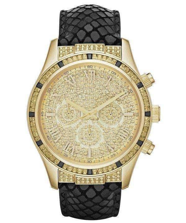 dd7645b1da33 Michael Kors Layton Chronograph Crystal Pave Dial MK2310 Womens Watch 1