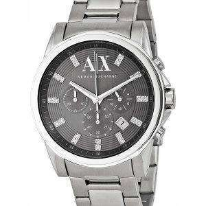 Armani Exchange Chronograph Crystals Grey Dial AX2092 Mens Watch