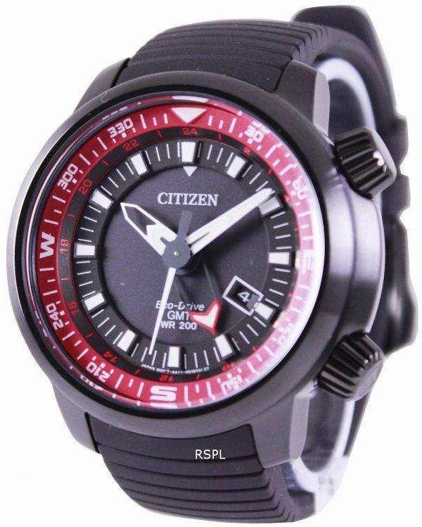 Citizen Eco-Drive GMT Divers 200M BJ7085-09E Mens Watch 1