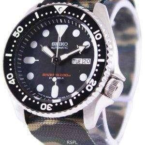 Seiko Automatic Diver's 200M Army NATO Strap SKX007J1-var-NATO5 Mens Watch