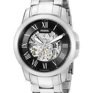 Fossil Grant Automatic Black Skeleton Dial ME3103 Mens Watch