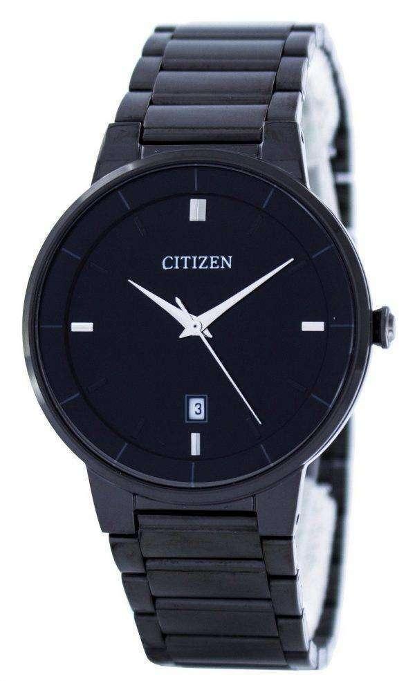 Citizen Quartz Black Dial BI5017-50E Mens Watch 1