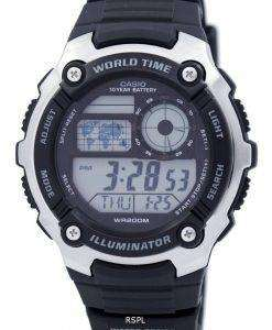 Casio Youth Illuminator World Time Digital AE-2100W-1AV AE2100W-1AV Men's Watch