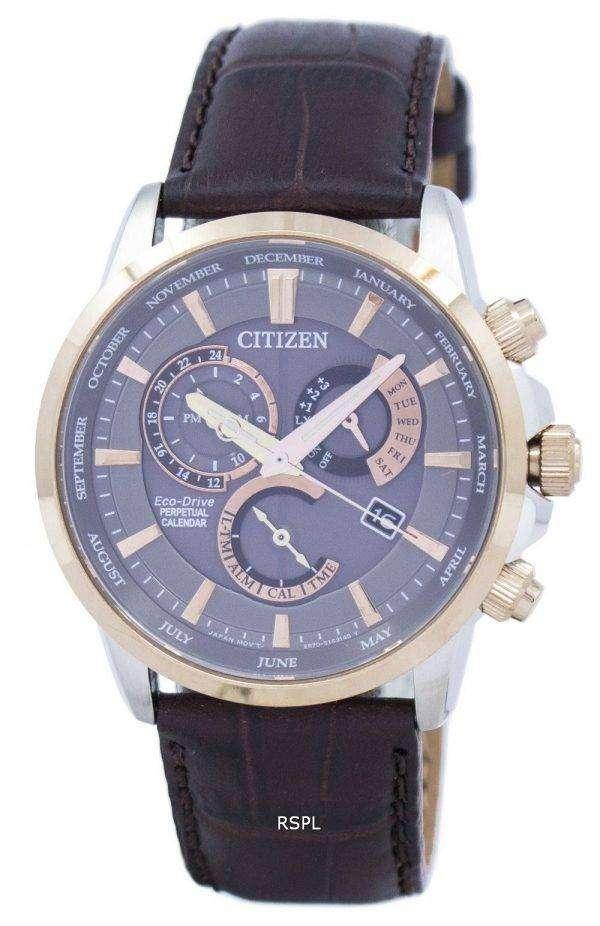 Citizen Eco-Drive Chronograph Perpetual Calendar Alarm BL8148-11H Men's Watch 1