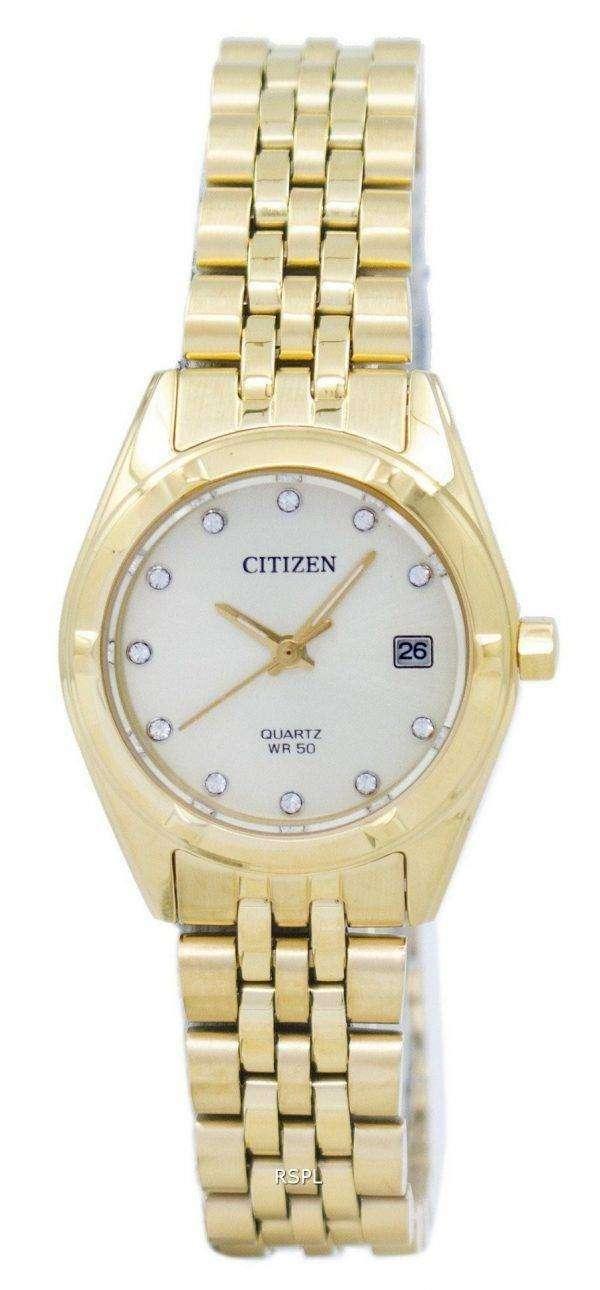 Citizen Analog Quartz Diamond Accent EU6052-53P Women's Watch 1