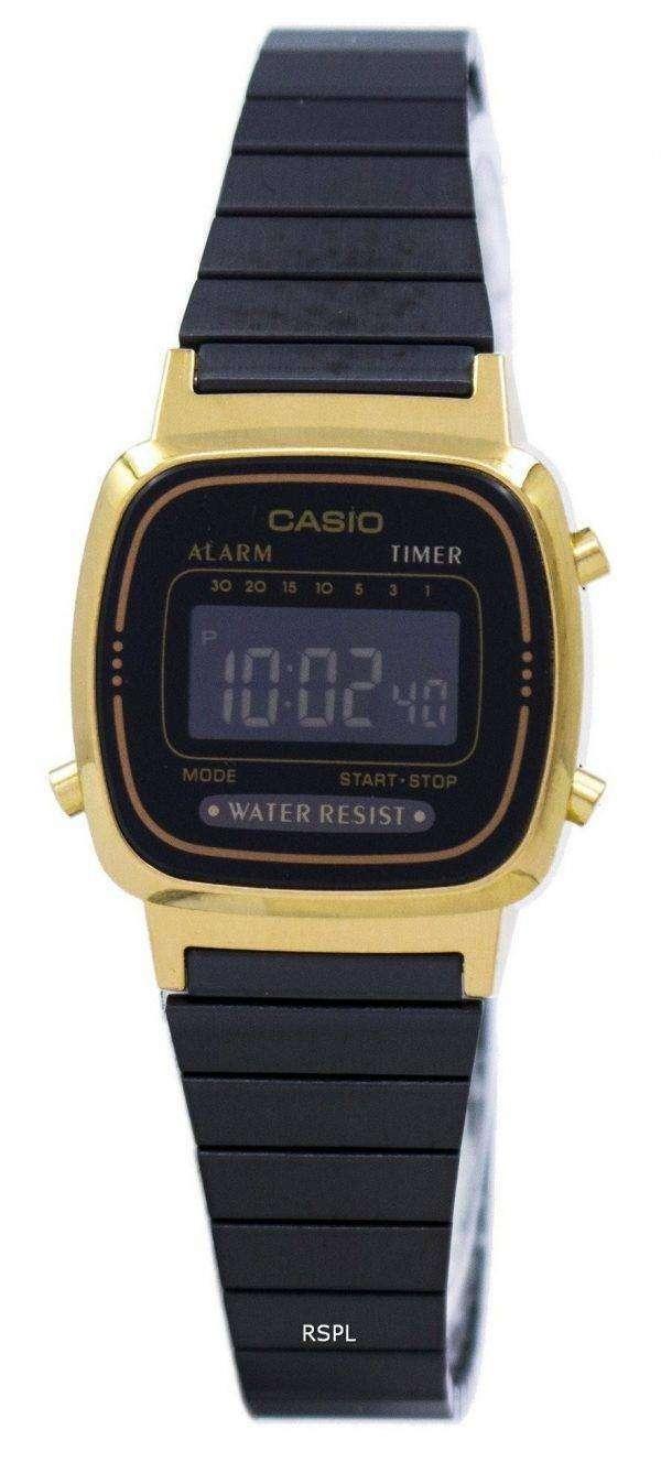 Casio Vintage Alarm Digital LA670WEGB-1B Women's Watch 1