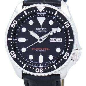 Seiko Automatic Diver's Ratio Black Leather SKX007J1-LS6 200M Men's Watch