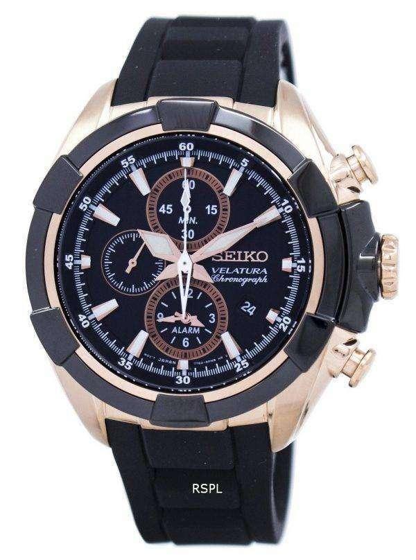 Seiko Velatura Chronograph Quartz Alarm SNAF60 SNAF60P1 SNAF60P Men's Watch 1