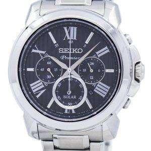 Seiko Premier Chronograph Solar SSC597 SSC597P1 SSC597P Men's Watch