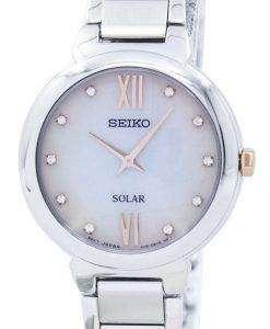 Seiko Solar Diamond Accent SUP381 SUP381P1 SUP381P Women's Watch