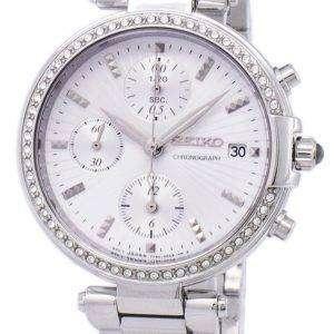 Seiko Chronograph Quartz Diamond Accent SNDV41 SNDV41P1 SNDV41P Women's Watch