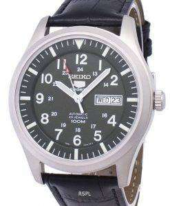 Seiko 5 Sports Automatic Ratio Black Leather SNZG09K1-LS6 Men's Watch