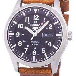 Seiko 5 Sports Automatic Ratio Brown Leather SNZG15K1-LS9 Men's Watch