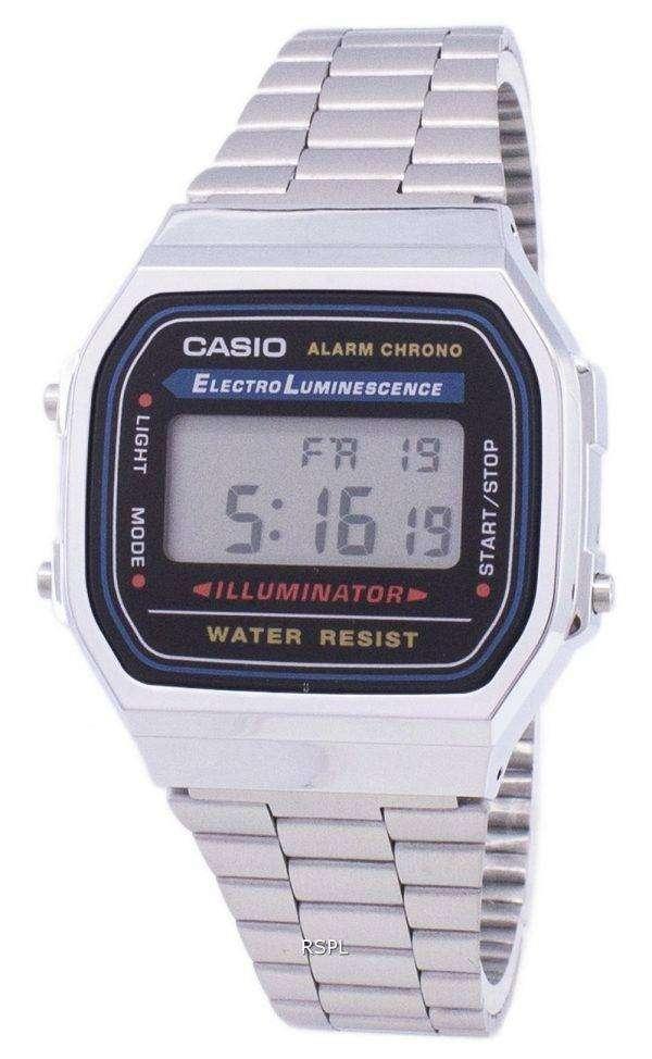 Casio Digital Alarm Chrono Stainless Steel A168WA-1WDF A168WA-1W Unisex Watch 1