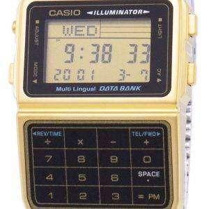 Casio Digital Stainless Steel Data Bank Multi-Lingual DBC-611G-1DF DBC-611G-1 Mens Watch
