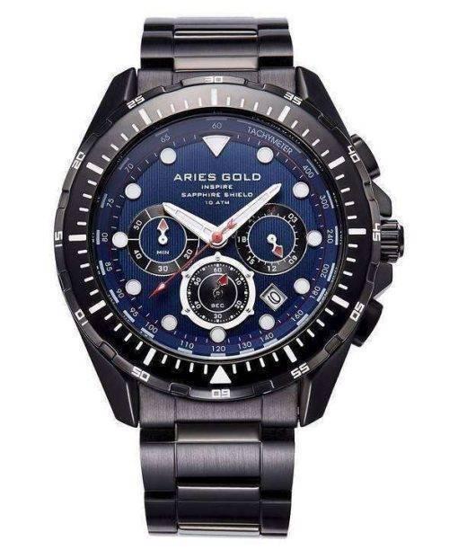 Aries Gold Inspire Atlantic Chronograph Quartz G 7002 BK-BU Men's Watch