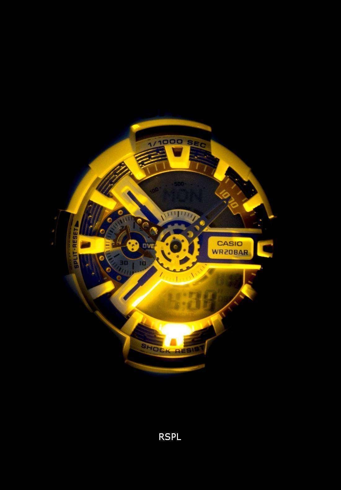 Casio G Shock Analog Digital World Time Ga 110tr 7a Mens Watch Gd X6900ht 2 Resin Band Blue