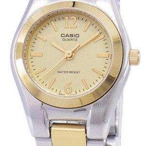 Casio Enticer Analog Quartz Gold Dial LTP-1253SG-9ADF LTP-1253SG-9A Womens Watch