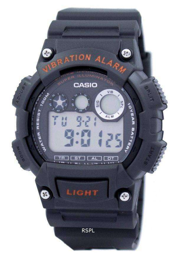 Casio Digital Vibration Alarm Illuminator W-735H-8AVDF W-735H-8AV Mens Watch 1
