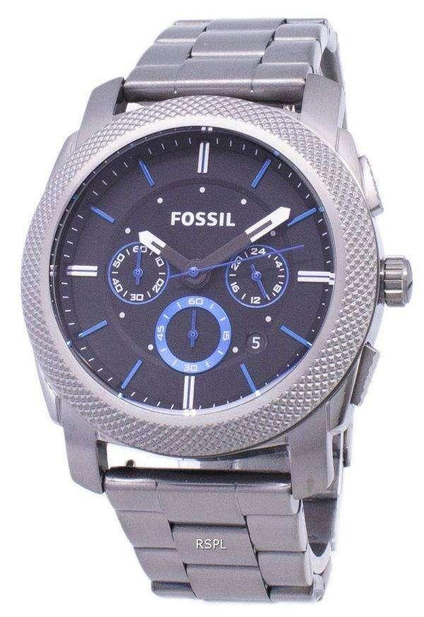 Fossil Machine Quartz Chronograph Black Dial Gunmetal Ion-Plated FS4931 Mens Watch 1