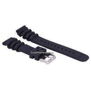 Black Rubber Strap 22mm
