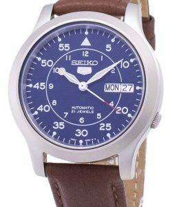 Seiko 5 Military SNK807K2-SS5 Automatic Brown Leather Strap Men's Watch