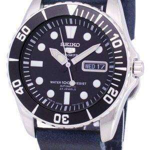 Seiko 5 Sports SNZF17J1-LS15 Automatic Dark Blue Leather Strap Men's Watch