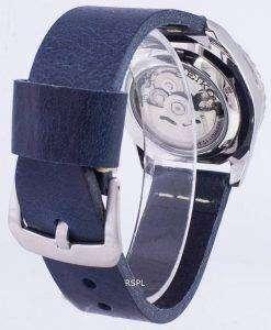 Seiko 5 Sports SNZF17K1-LS15 Automatic Dark Blue Leather Strap Men's Watch