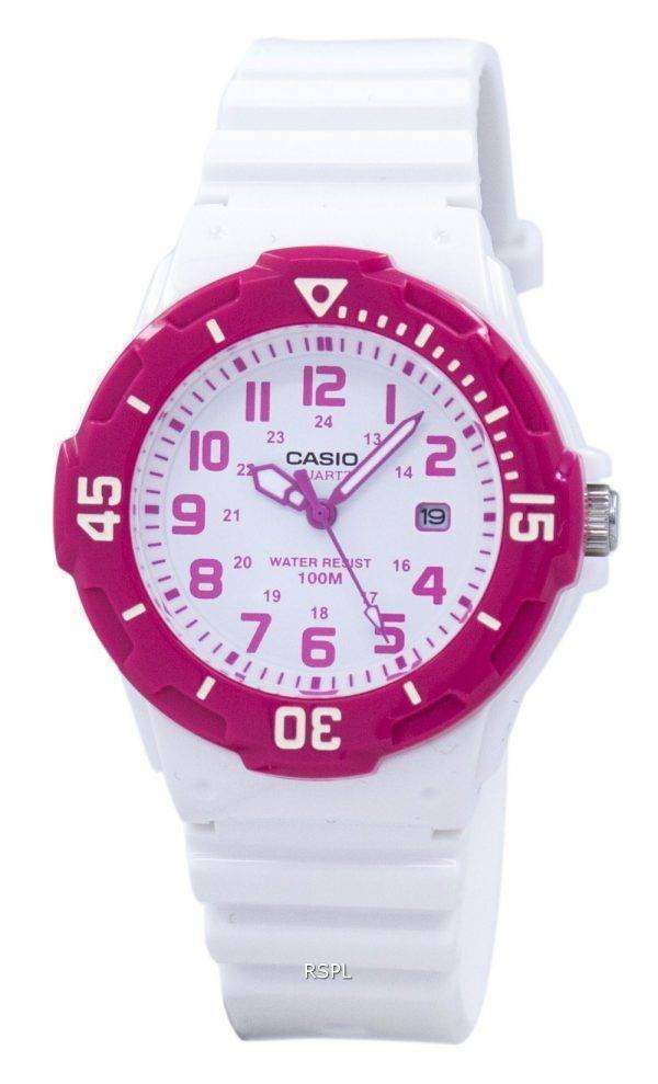 Casio Analog Hot Pink White Dial LRW-200H-4BVDF LRW-200H-4BV Womens Watch 1