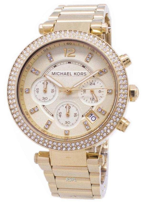 Michael Kors Parker Glitz Chronograph Crystals MK5354 Womens Watch 1