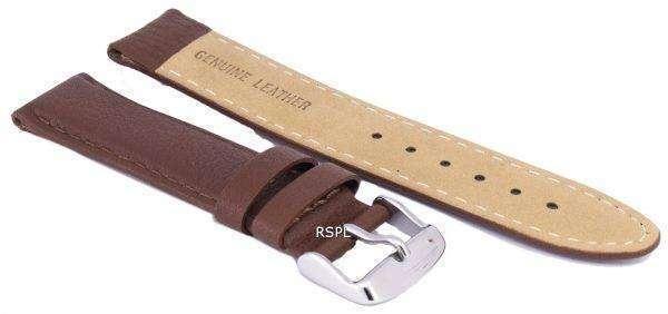Dark Brown Ratio Brand Leather Strap 20mm 1