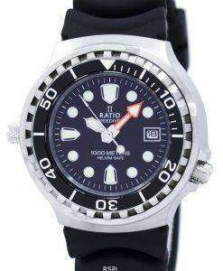 Ratio II Free Diver Helium Safe 1000M Quartz 1038EF102V Men's Watch