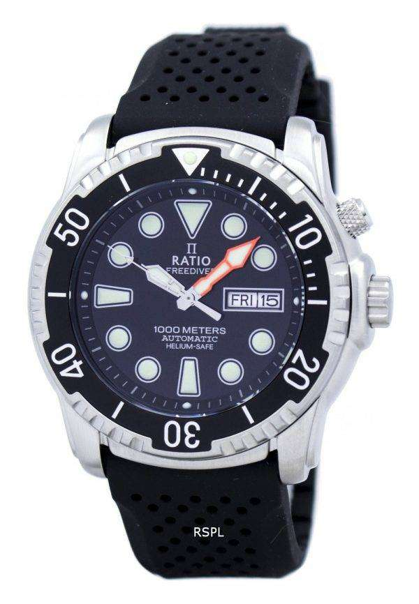 Ratio II Free Diver Helium-Safe 1000M Automatic 1068HA90-34VA-00 Men's Watch 1