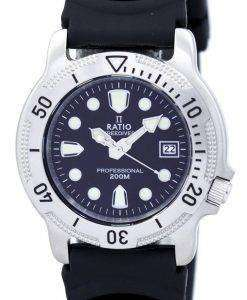 Ratio II Free Diver Professional 200M Quartz 22AD202 Men's Watch