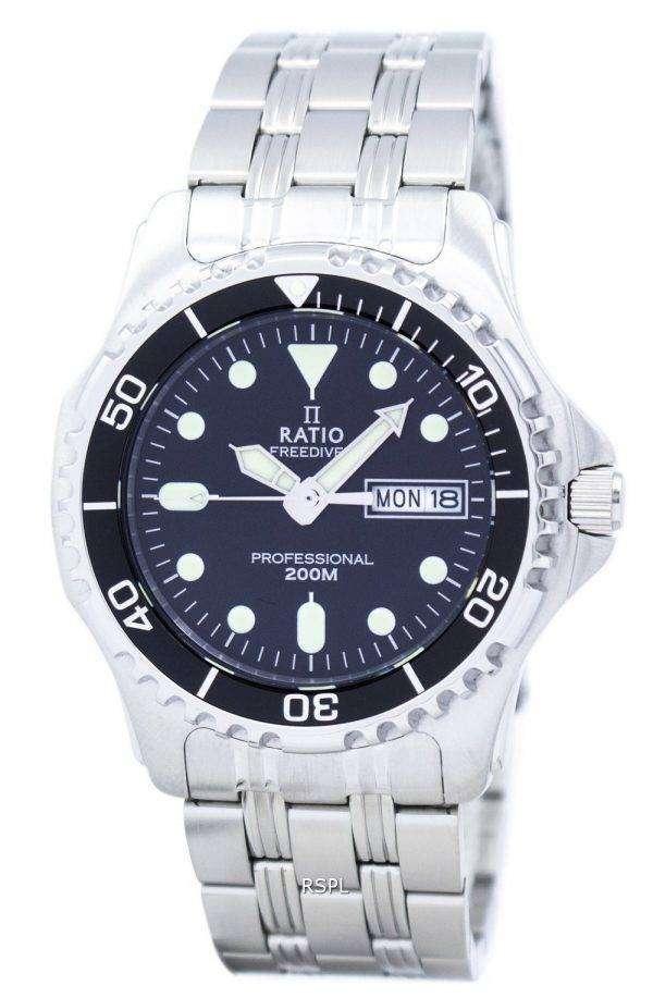 Ratio II Free Diver Professional 200M Quartz 36JL140 Men's Watch 1