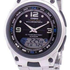 Casio Analog Digital Out Gear Fishing Illuminator AW-82D-1AVDF AW82D-1AVDF Men's Watch