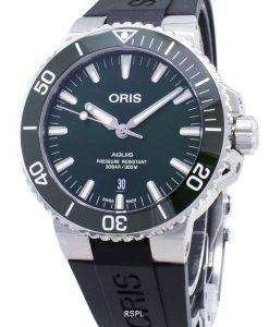 Oris Aquis Date 01 733 7730 4157-07 4 24 64EB 01-733-7730-4157-07-4-24-64EB Automatic 300M Men's Watch