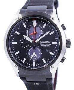 Seiko Sportura World Time Solar Chronograph SSC483 SSC483P1 SSC483P Mens Watch